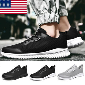 Mens Running Shoes Sneakers Mesh Breathable Lace Up Fitness Tennis Athletic Size
