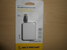 Scosche MFI Apple boltBOX Lightning Magnetic Connector Retractable Charge Cable