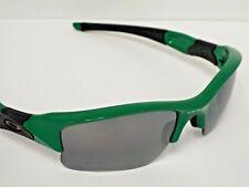 Authentic Oakley Flak Jacket XLJ Green & Black Iridium Polarized Sunglasses