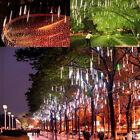 20cm /30cm LED Lights Meteor Shower Rain 8Tube Xmas Tree Outdoor Light US Plug