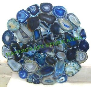 Blue Natural Agate Table Top For Side Table, Corner Table, End  & Coffee Table