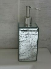 SOAP DISPENSER.SILVER MARBLED GLASS