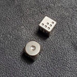 EDC TC4 Titanium Alloy Dice Outdoor EDC Cool Small Tool Gray Round Titanium Dice