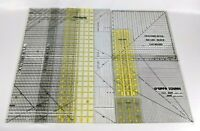 OMNIGRID QUILTER'S RULE 8 PIECE RULER LOT Assorted Sizes Quilting FREE SHIPPING!
