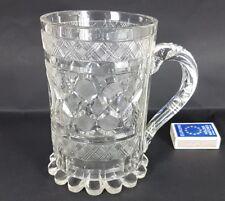 Biedermeier Glas Becher/ Henkel- Krug Böhmen um 1829  AL358