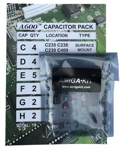 Professional Capacitor Pack for Amiga 600 A600 Recapping New Amiga Kit    12643