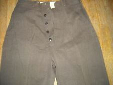 Vtg 30S 40S Men 26 X 34 Wool Brown Hollywood Button Fly Trouser Pants