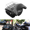 Black King Pack Trunk W/ Luggage Rack For Harley Tour Pak Road King Glide 97-13