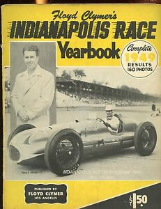 1949 Floyd Clymer's Indianapolis 500 Car Race Yearbook VGEX