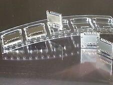 5 Molex Micro SD Push/Pull 8-pad Connector Holder EZ-Soldering 4 Microcontroller