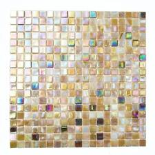 KEM Mosaik Quadrat Crystal//Stein mix grau//schwarz//gold 300 x 300 mm Wand Innen