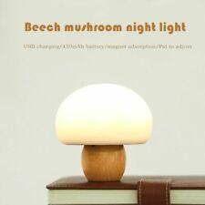 USB Charging Night Lamp Mushroom Magnetic Suction Cup Wood Silica Gel Night Lamp