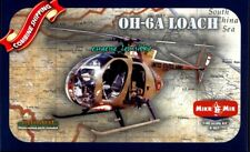 AMP/Mikro-Mir 401 Helicopter OH-6A Loach (PE parts,Decal) Plastic Model Kit 1/48