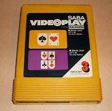 Saba videoplay videocart 3-Black Jack (17+4 pour 1 + 2 joueurs) jaune Module
