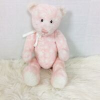 "Baby Gund Dotzie Pink White Polka Dot Bear Plush 15"""