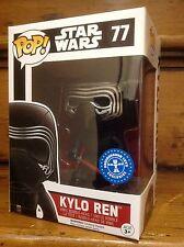 FUNKO POP! Star Wars VII KYLO REN (UNHOODED) #77 Exclusive Vinyl Figure *New*
