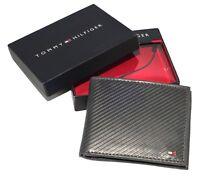 Men's Tommy Hilfiger - Textured Leather Lite Black - Gray Tan Pocket Wallet