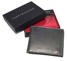 Homme TOMMY HILFIGER - texturé cuir Lite Noir - Gris Foncé Portefeuille de poche