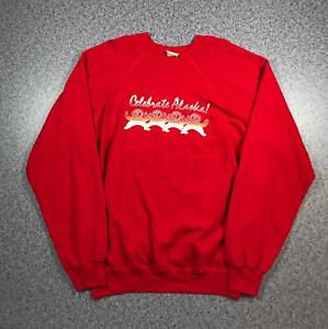 Vintage 80s CELEBRATE ALAKSA Mens Sweatshirt XL | MADE IN USA HANES