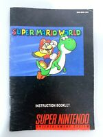 Super Mario World Super Nintendo Instruction Manual Booklet NO SNES GAME!