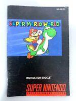 Super Mario World Super Nintendo Instruction Manual Booklet NO SNES GAME!