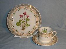 Georges Briard Dessert Plate Cup Saucer Cyclamen Texas Bluebonnet floral EXC