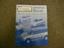 2003 Suzuki Genuine Accessories Confidential Pricing Application Guide Manual 03