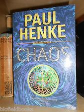 SIGNED 1STPaul Henke-CHAOS-Nick Hunter Novel-First Ed-2002