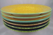 6 OVER & BACK Sponged Rimmed Pasta Salad Soup Dessert Bowls MADE IN ITALY  EUC