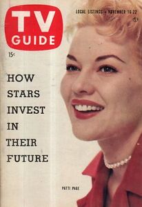 1957 TV Guide November 16 - Patti Page; jerry Lewis; Barry Sullivan Rockport MA