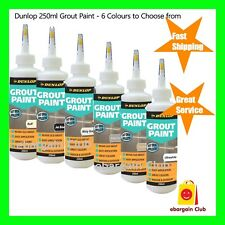 Dunlop 250ml Grout Paint - 6 colours to choose from Buff Black Grey Ultrawhite