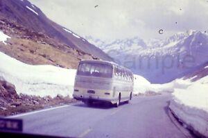 1970s Passenger Bus Classic Car Alps Europe 35mm Slide Vintage D620