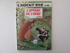 AGENT212 AGENT 212 T15 EO1993 TBE/TTBE L'APPEAU DE L'OURS