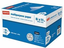 *NEW* Staples Multipurpose Copy Printing Paper 10-Ream Case 5000 Sheets SEALED!