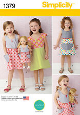 """Simplicity Mad Kid Studio Patty Young Child Sewing Pattern 1379 18"""" Doll Dress"""