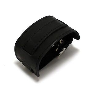 Pride C18 black military model handmade genuine leather padded watchstrap 18 mm