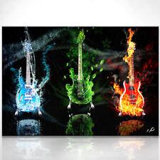 Gitarre Gibson Les Paul Musik Musikinstrumente Abstrakt Bild auf Leinwand D0564
