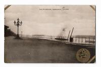 POSTCARD 'DURHAM' The Promenade, Hartlepool in Storm c.1914  /A-306