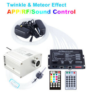 Fiber Optic Light APP Control 10W RGBW TWINKLE LED Star Ceiling Meteor Lights 2m