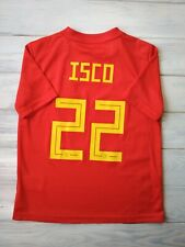 Isco Spain kids jersey 9-10 years 2019 home shirt BR2713 soccer football Adidas