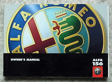 ALFA ROMEO ALFA 156 auto manuale del proprietario manuale settembre 2000 # 60431033 1st Edition