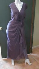 Adrianna Papell For E Live From The Red Carpet Purple Formal Dress Gown Size 10