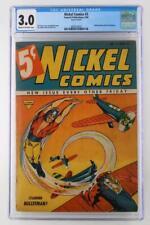 Nickel Comics #2 - CGC 3.0 GD/VG - Fawcett 1940 - Mickey Rooney Frontispiece!
