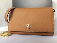 NWT $298 Tory Burch EMERSON Robinson Flat Chain Saffiano Leather Wallet Clutch