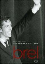 """DVD """"Jacques Brel : Les Adieux à l'Olympia (1966)""""  NEUF SOUS BLISTER"""