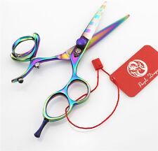 "5.5"" Swivel Thumb Hair Cutting Scissors Multicolor Barber Hairdressing Shears"