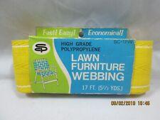 "Vintage Stone City Lawn Chair Furniture Plastic Webbing Yellow 2-1/4""x 17' NIP"