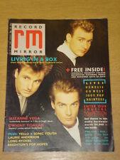 RECORD MIRROR 1987 JUNE 27 LIVING IN A BOX SUZANNE VEGA