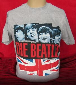 The Beatles  - Gray - Large T-Shirt - NEW