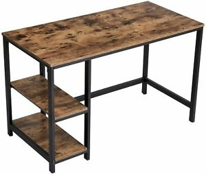 Industrial Computer Desk Rustic Metal Furniture Vintage Compact Office Study Leg